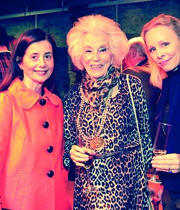 4. de gauche Ö droite Carmen Derek Queisser von Stockalper, Mme Brigitte de Saussure et Mme Kirsten Houben