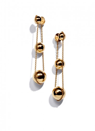 Tiffany CityHardWear Bead Double Drop Earring in 18K Yellow Gold1