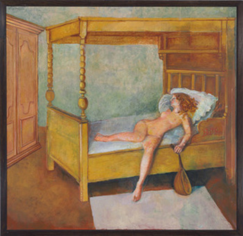 Elongated Odalisque, 1998-99 (oil on canvas)