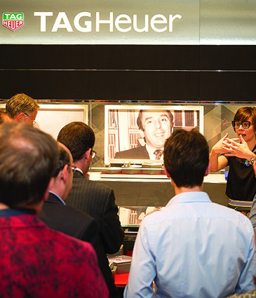 Catherine Eberle-Devaux presenting the exhibition to the press