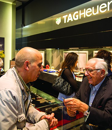 Jack Heuer with Watch Enthiusast
