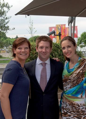 Sylvain Robineau, Carine Delorme et une amie