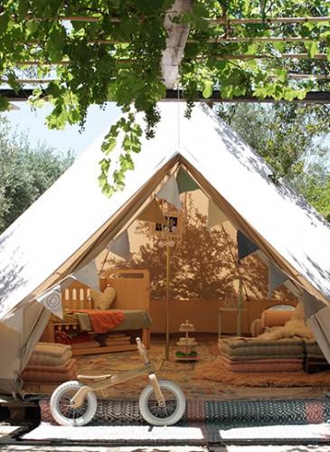 Tent exterior