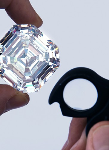 4.1 Graff Lesedi La Rona, Largest Square Emerald Cut Diamond, Photography by Donald Woodrow