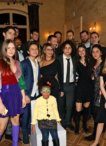 Les Lions de Genève avec Ronit Raphael et les enfants présents à la soirée