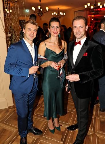 Vladimir Ippolitov, fondateur de Geneva Dance Events, Déborah Ben Amouzegh, Hôtel Métropole et Mickael Lamothe, directeur du Temple de la Beauté L.RAPHAEL