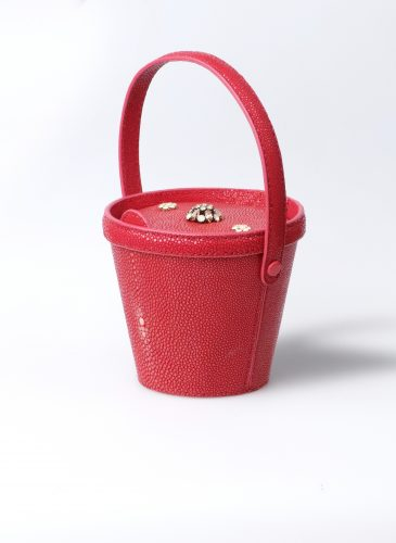 MINI AZURE GALUCHAT RED