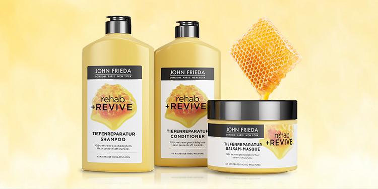 REHAB+REVIVE : Réparation intense et soin nourrissant au miel pour les cheveux extrêmement abimés.