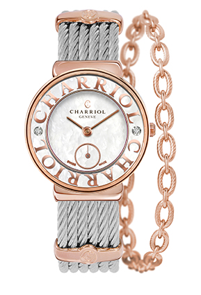 CHARRIOL Watch ST-TROPEZ White MOP dial and bezel