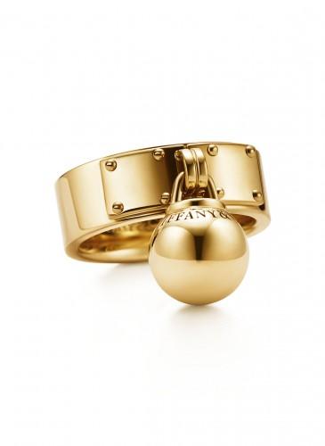 Tiffany City HardWear Bead Dangle Ring in 18K Yellow Gold