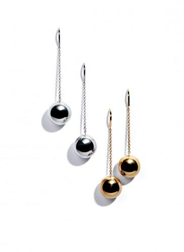 Tiffany City HardWear Bead Hook Earrings in Sterling Silver and 18K Yellow Gold
