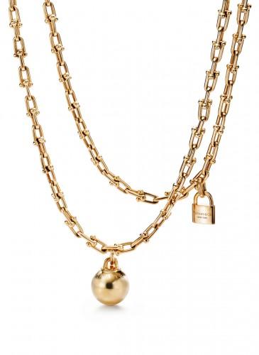Tiffany City HardWear Chain Wrap Necklace in 18K Yellow Gold