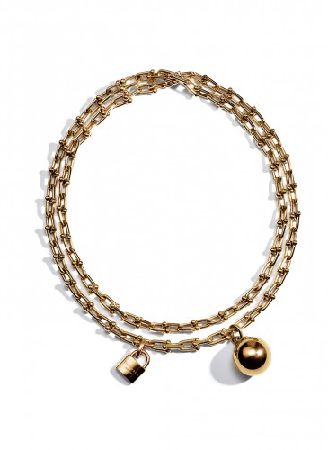 Tiffany City HardWear Chain Wrap Necklace in 18K Yellow Gold1