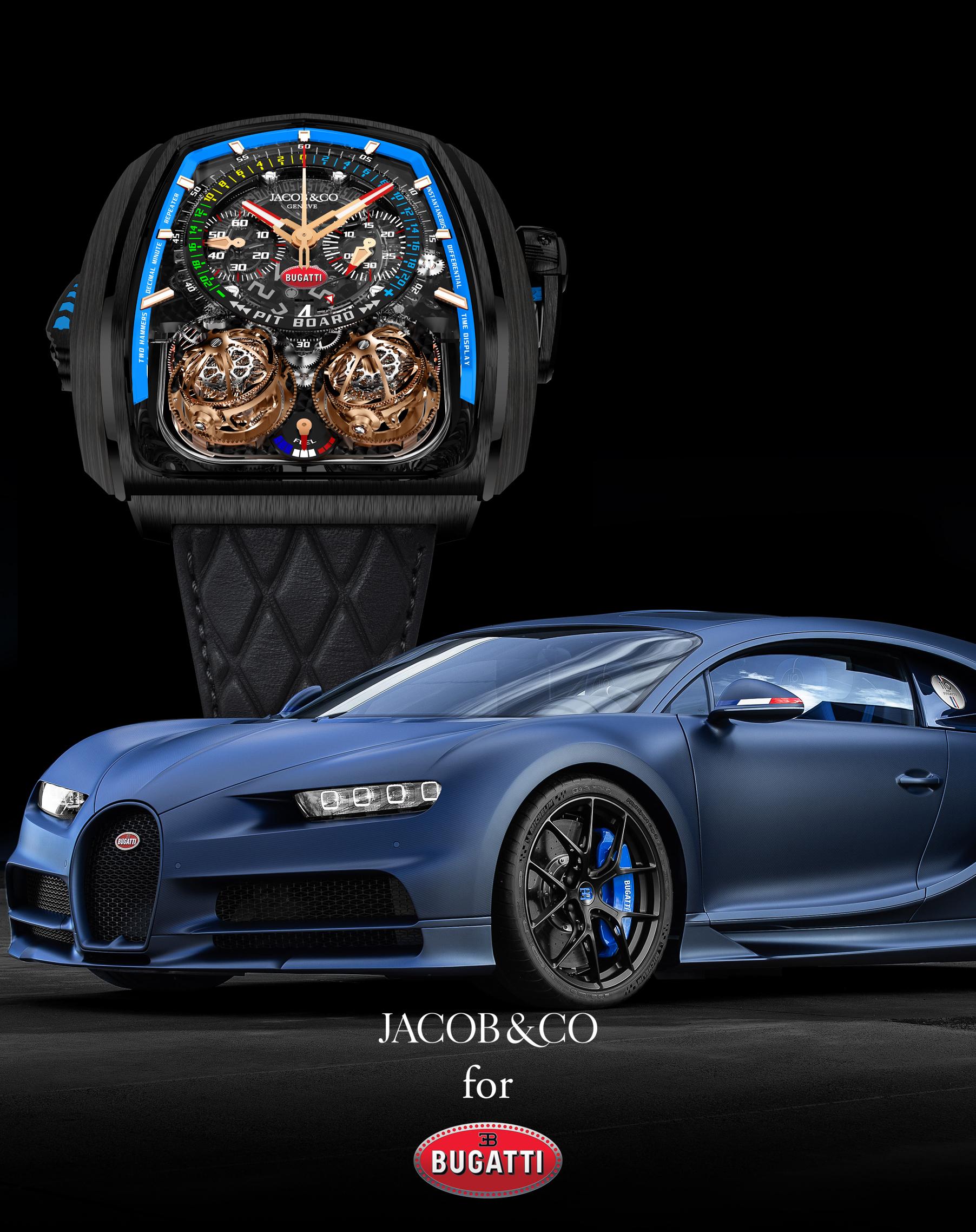 Jacob & Co. et Bugatti deviennent partenaires