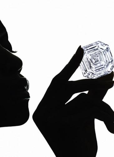 1.2 Graff Lesedi La Rona, Largest Square Emerald Cut Diamond, Photography by Ben Hassett