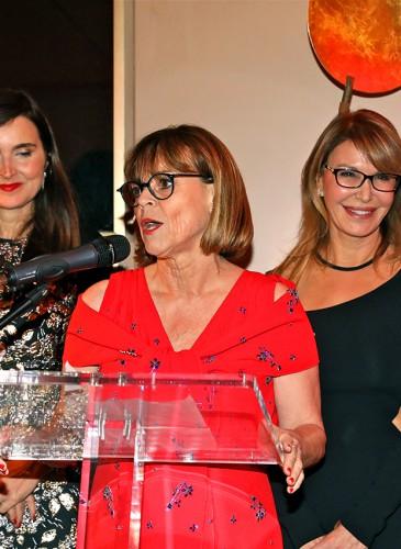 Gabriella O'Hana, directrice de la Boutique Chopard, Hélène Lang-Lauper, directrice de l'Hôtel Métropol et Ronit Raphael, CEO et fondatrice de L.RAPHAEL