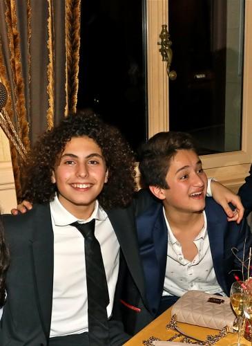 Les enfants présents à la soirée