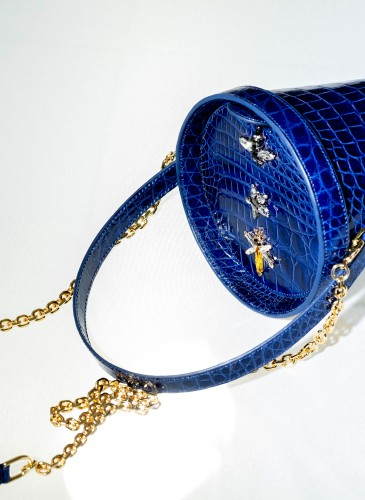 SPRING AZURE ALLIGATOR BLUE AND CHAIN  The Collector