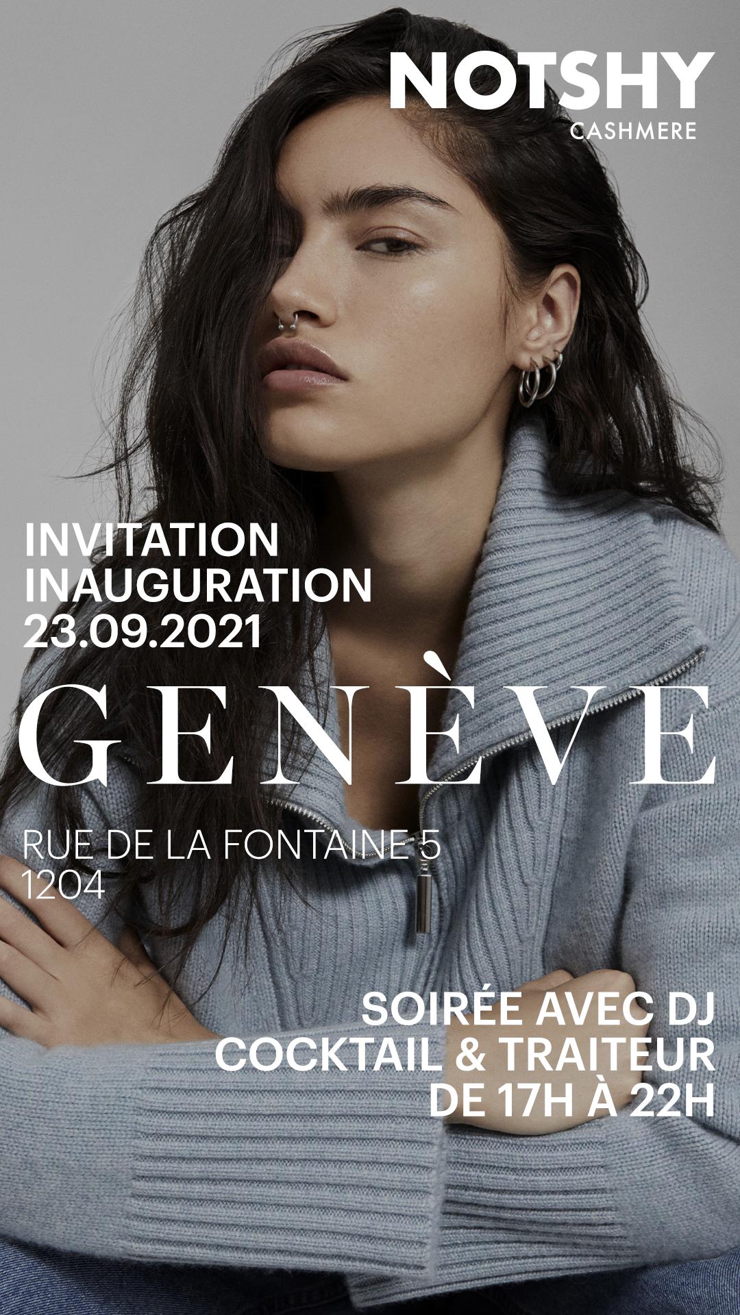 Inauguration de la boutique Notshy à Genève